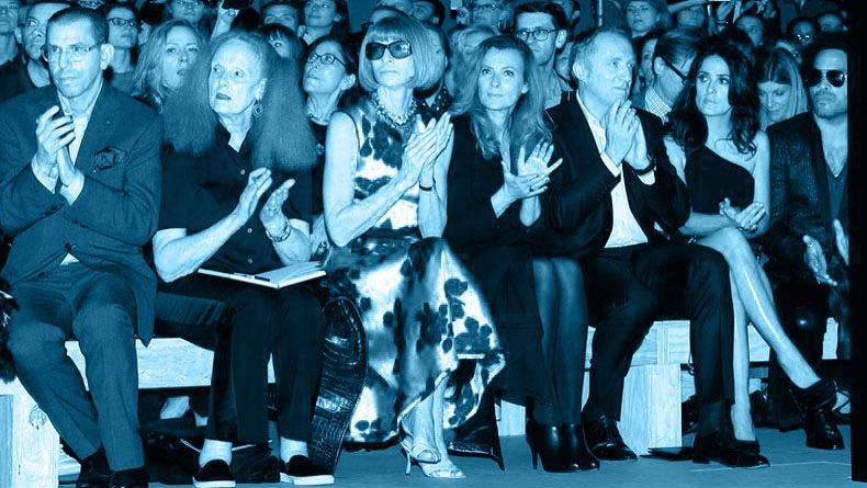 Saint Laurent : Front Row - Paris Fashion Week Womenswear Spring/Summer 2014